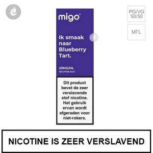 migo e-liquid nic salt nicotinezout 10mg blueberry tart 10ml.jpg