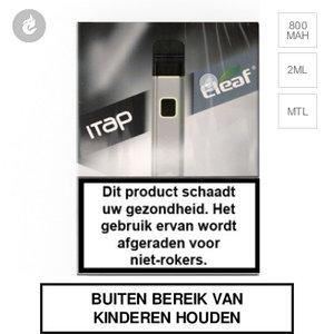 eleaf itap e-sigaret e-smoker pod starterkit 800mah 2ml zilver.jpg