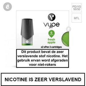 vype nicotine zout pods nic salts e-liquid 2ml 2 stuks fresh apple 6mg nicotine.jpg