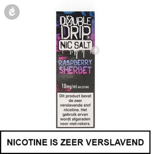 double drip nic salts nicotinezout e-liquids 10ml raspberry sherbet 10mg nicotine.jpg