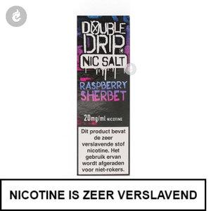 double drip nic salts nicotinezout e-liquids 10ml raspberry sherbet 20mg nicotine.jpg