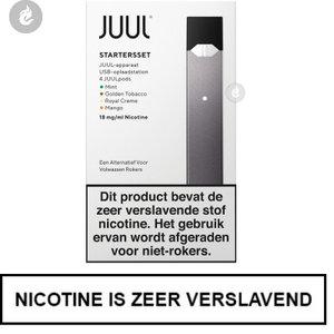 juul pod e-sigaret starterskit 200mah 0.7ml inclusief 4 pods 18mg nicotine zwart.jpg