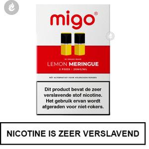 migo pods 1.3ml 2 stuks nic salt nicotinezout e-liquid 20mg nicotine lemon meringue.jpg