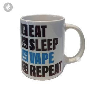 e-sigaret drinkbeker vape e-smoker mok mug eat sleep vape repeat.jpg