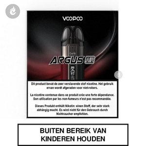 voopoo argus air pod e-sigaret e-smoker 900mah 25watt 2ml Red and Black rood zwart.jpg