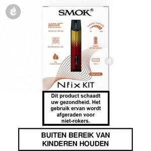 smok nfix pod e-sigaret e-smoker starterskit 25watt 2ml red gold.jpg