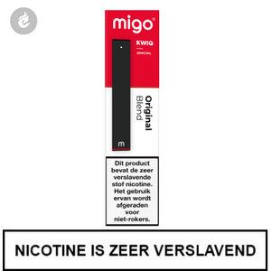 MIGO Kwiq e-sigaret disposable wegwerp shishapen original blend 20mg.jpg