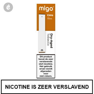 MIGO Kwiq e-sigaret disposable wegwerp shishapen dry aged tobacco 10mg.jpg