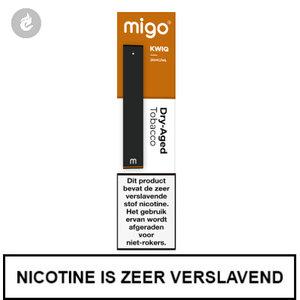 MIGO Kwiq e-sigaret disposable wegwerp shishapen dry aged tobacco 20mg.jpg
