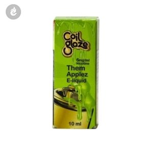 coil glaze e-liquid them applez nicotinevrij