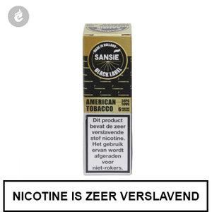 sansie vape e-liquid black label american tobacco 6mg nicotine