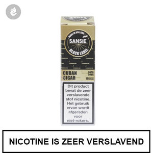 sansie vape e-liquid black label cuban cigar 6mg nicotine