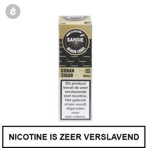 sansie vape e-liquid black label cuban cigar 12mg nicotine