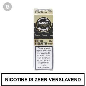 sansie vape e-liquid black label dutch cigarette 6mg nicotine