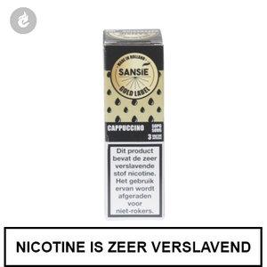 sansie vape e-liquid gold label cappuccino 3mg nicotine