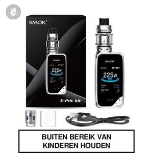 smok x-priv e-sigaret kit 225watt prism chrome chroom rvs zilver