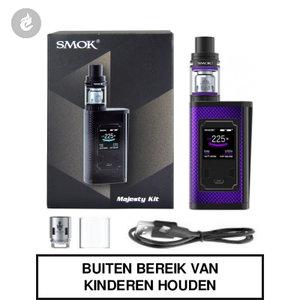 smok majesty e-sigaret kit carbon fiber 225watt paars