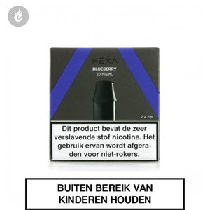hexa pod navulling 20mg nicotine blueberry 2x 2 stuks 2ml