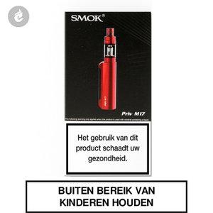 smok priv m17 e-sigaret e-smoker starterskit 2ml 1200mah rood