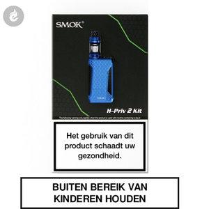 smok h-priv 2 e-sigaret starterskit 225watt e-smoker blue blauw