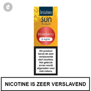 zensations sun e-liquid 40pg 60vg 10ml strawberry 6mg
