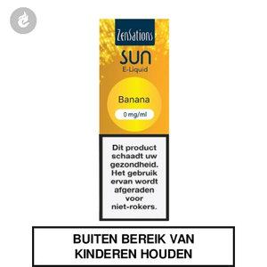 zensations sun e-liquid 40pg 60vg 10ml banana 0mg