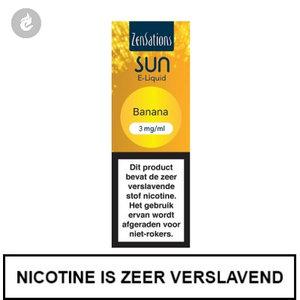 zensations sun e-liquid 40pg 60vg 10ml banana 3mg