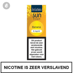 zensations sun e-liquid 40pg 60vg 10ml banana 6mg