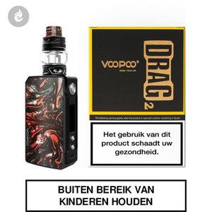 voopoo drag 2 e-sigaret 2ml e-smoker starterskit 177watt scarlet