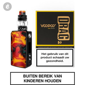 voopoo drag 2 e-sigaret 2ml e-smoker starterskit 177watt fire cloud