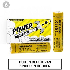 nitecore 18650 e-sigaret mod batterij 3100mah 35ampere 2 stuks