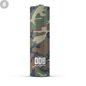 ODB 20700 batterij wraps camouflage forest camo