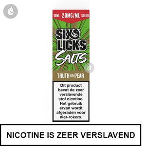six licks nicotinezout nic salt e-liquid 20mg nicotine truth or pear.jpg