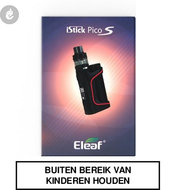 eleaf istick pico s e-sigaret starterskit 100watt 2ml e-smoker zwart