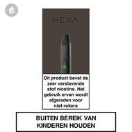 hexa pods e-sigaret kit nic salts zwart